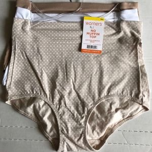 Warner's Cotton Stretch Briefs Panties M/6